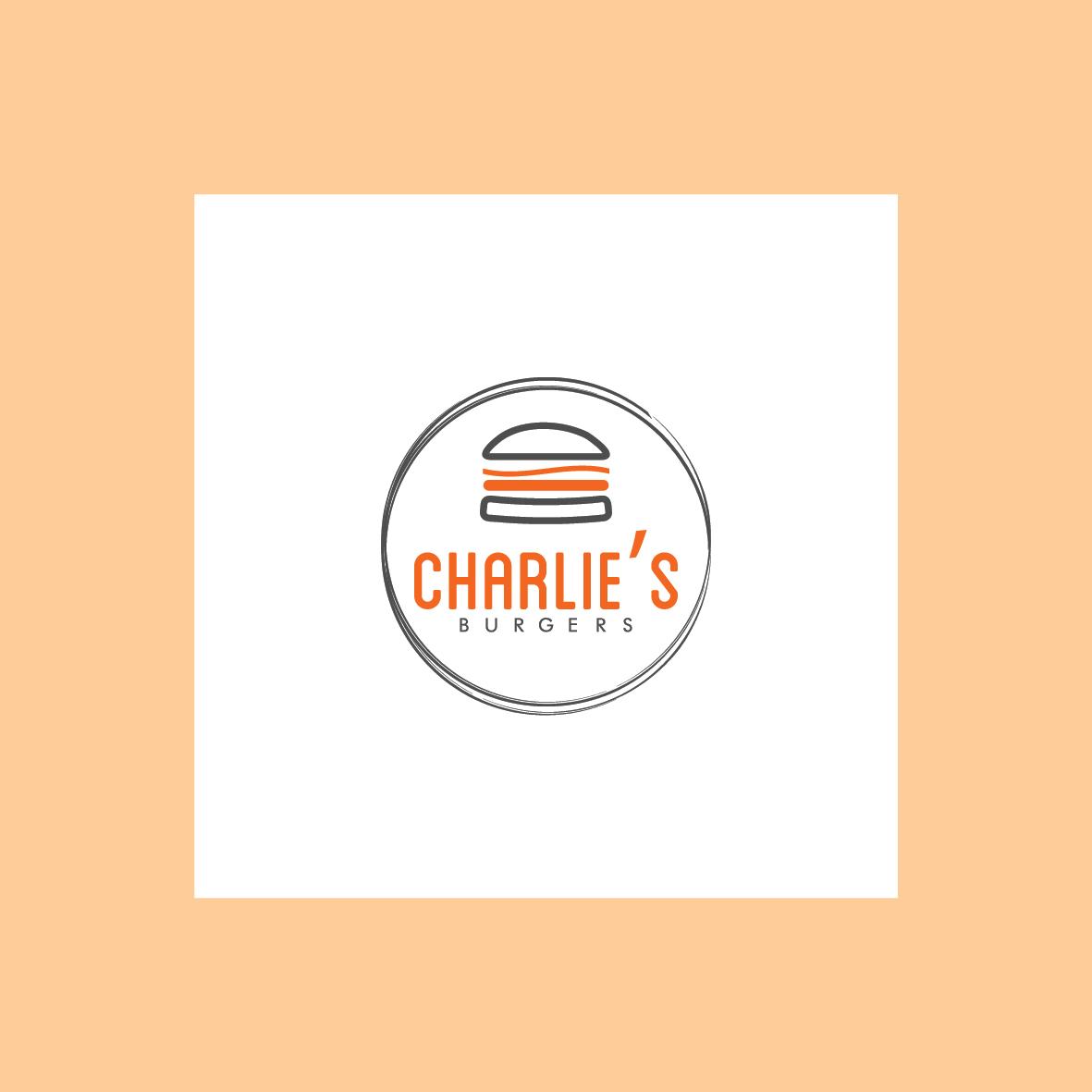 charlies's burger logo pub grafica salerno