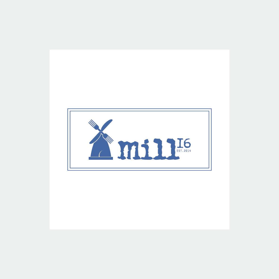 mille 16 restaurant logo coffeeandesigns salerno