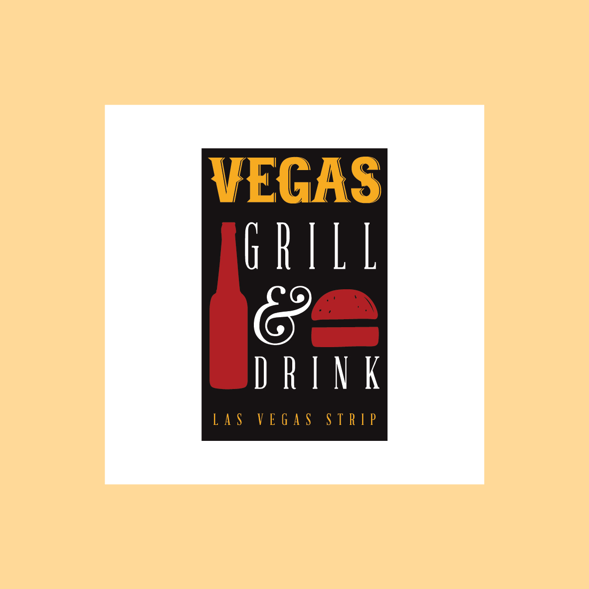 vegas grill e drink logo grafica salerno pub bar
