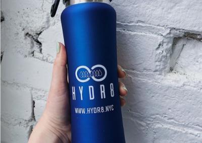 hydr8 logo bottle plastic free company logo grafica salerno