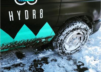 hydr8 wrap auto logo design coffeeandesigns salerno studio grafico